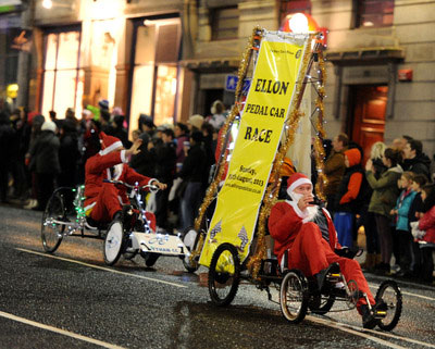 2012AberdeenChristmasLightsEllonPedalCarRace