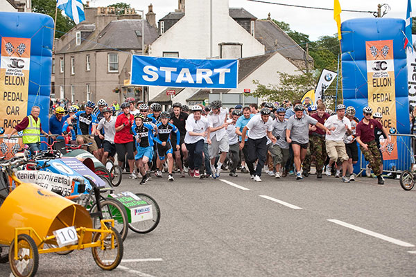 2012 Ellon Pedal Car Race start